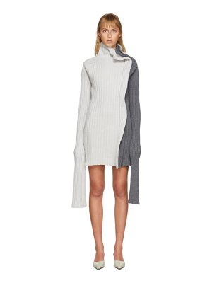 Christina Seewald ssense exclusive grey split dress sweater
