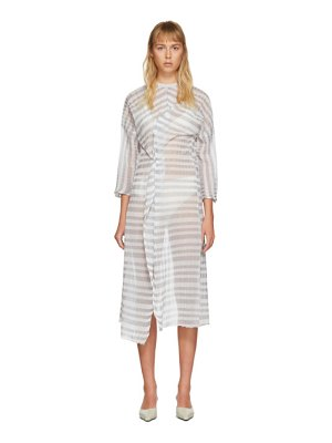 Christina Seewald ssense exclusive  kimono twist dress