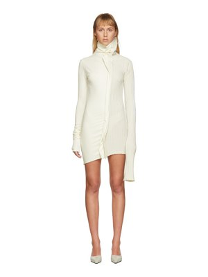 Christina Seewald ssense exclusive off- split dress sweater