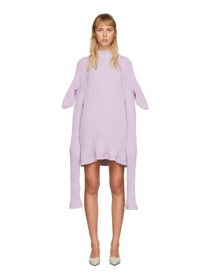 Christina Seewald ssense exclusive purple knitted shewee dress