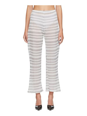 Christina Seewald ssense exclusive  striped sheer lounge pants