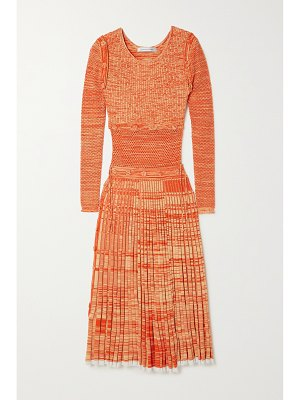 Christopher Esber deconstruct convertible space-dyed knitted midi dress