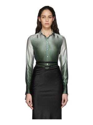 Christopher Esber green button-up slim shirt