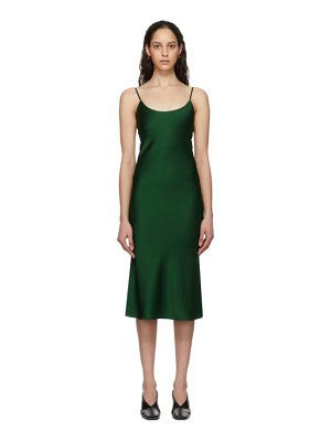 Christopher Esber green tie back bias slip dress