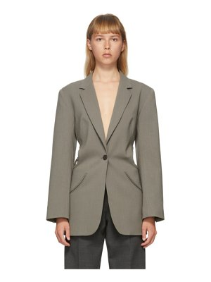 Christopher Esber green wool floating loophole blazer