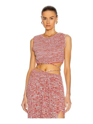 Christopher Esber sleeveless knit tie crop top