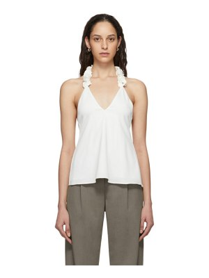 Christopher Esber white coiled lei cami tank top
