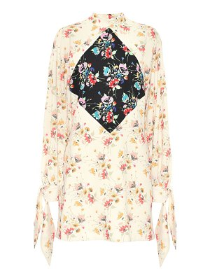 Christopher Kane Archive Floral crêpe minidress