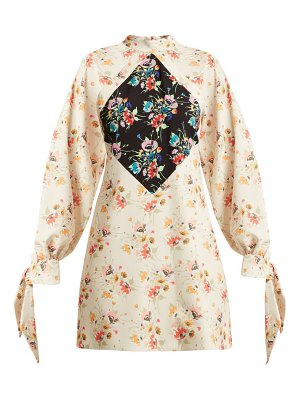 Christopher Kane Archive Floral Print Crepe Mini Dress