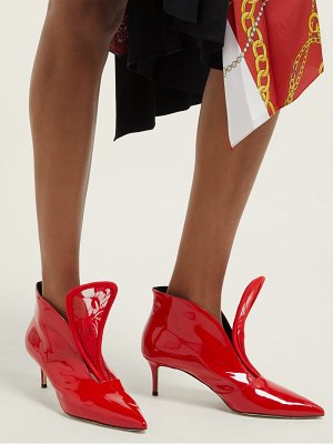 Christopher Kane c string leather ankle boots