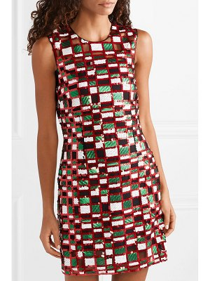Christopher Kane checked sequined tulle mini dress