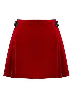 Christopher Kane crystal embellished cotton blend velvet skirt