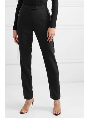 Christopher Kane crystal-embellished crepe tapered pants