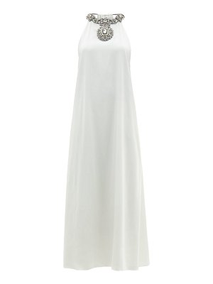 Christopher Kane crystal-embellished draped satin dress