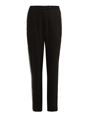 Christopher Kane crystal embellished high rise trousers