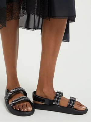 Christopher Kane crystal embellished leather slingback sandals
