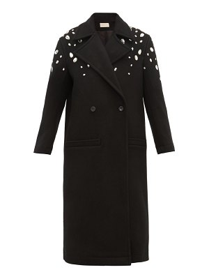 Christopher Kane crystal embellished wool blend coat