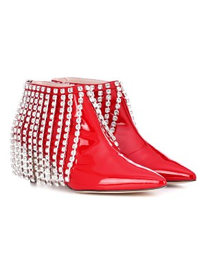 Christopher Kane Crystal patent leather ankle boots