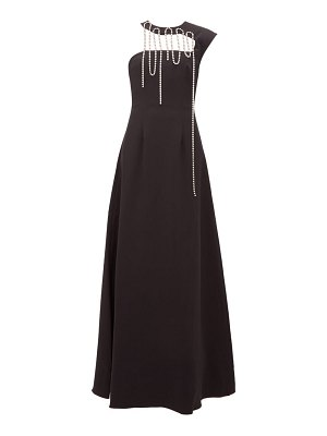 Christopher Kane crystal tassel corseted crepe gown