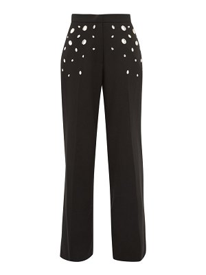 Christopher Kane crystal wide leg trousers
