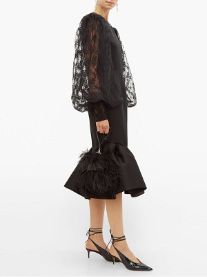 Christopher Kane cupcake lace sleeve satin midi dress
