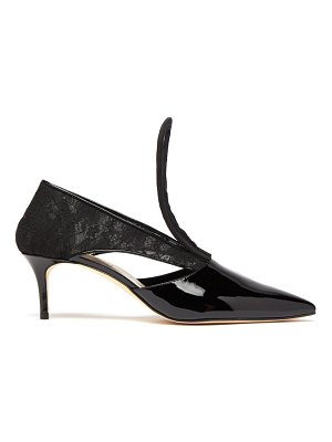 Christopher Kane cut out lace insert patent leather pumps