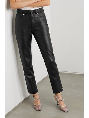 Christopher Kane dome leather straight-leg pants