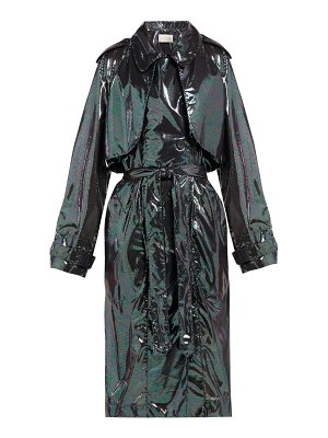 Christopher Kane double breasted iridescent chiffon trench coat