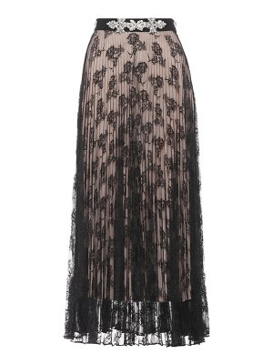 Christopher Kane embellished pleated maxi skirt