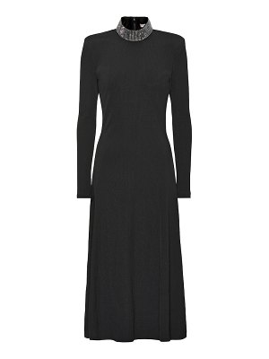 Christopher Kane Embellished stretch knit midi dress