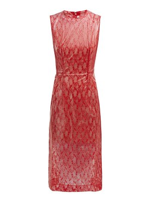 Christopher Kane Floral Lace & Pvc Midi Dress