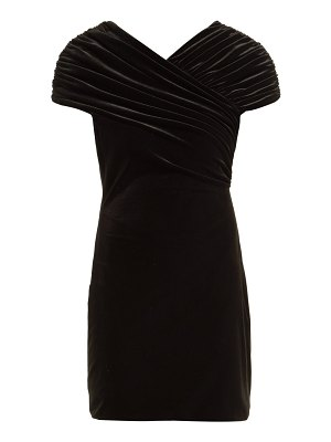 Christopher Kane Gathered Stretch Velvet Mini Dress