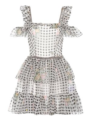 Christopher Kane Gingham silk minidress