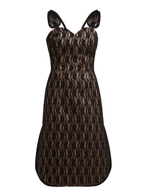Christopher Kane lace bonded satin dress
