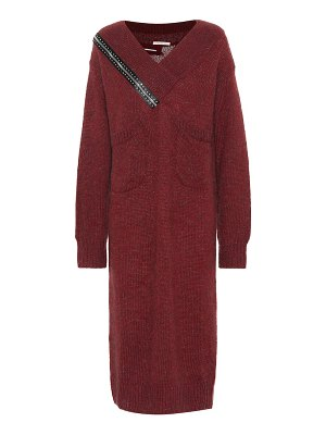 Christopher Kane Mohair and wool-blend midi dress