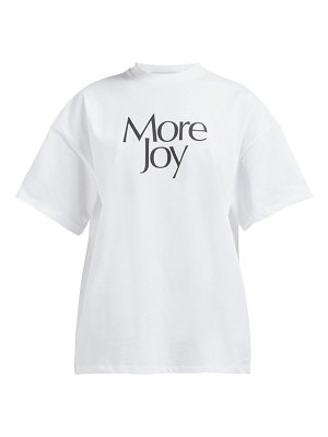 Christopher Kane more joy printed cotton t shirt