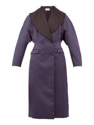 Christopher Kane oversized double breasted satin coat