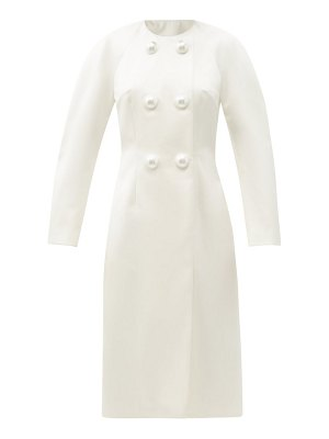 Christopher Kane pearl-button satin evening coat