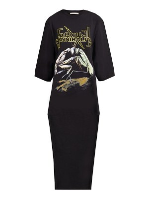 Christopher Kane praying mantis print cotton t shirt