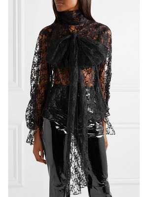 Christopher Kane pussy-bow lace blouse