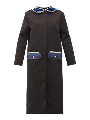 Christopher Kane pvc collar and pocket satin coat