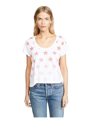 CHRLDR faded stars box slub tee