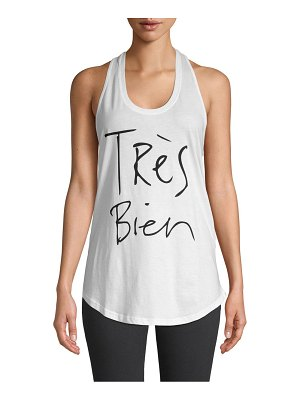 CHRLDR Tres Bien Graphic Cotton Tank Top
