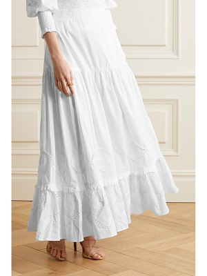 CHUFY miski crochet-trimmed tiered cotton maxi skirt