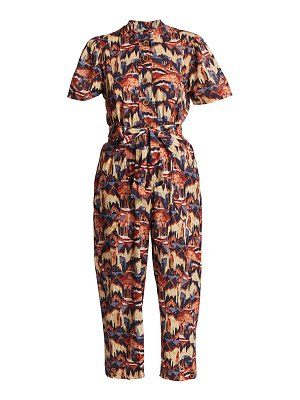 CHUFY puff short-sleeve printed jumpsuit