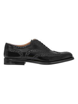 CHURCH'S 20mm brogue brushed leather shoes