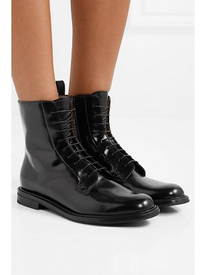 CHURCH'S alexandra glossed-leather ankle boots