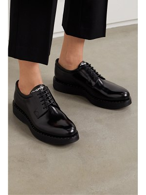 CHURCH'S brandy met studded glossed-leather brogues
