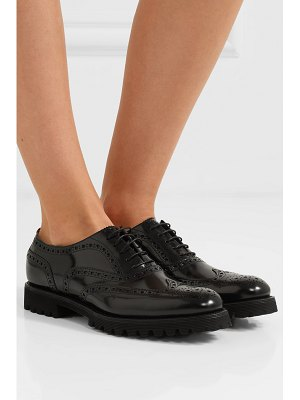 CHURCH'S carla glossed-leather brogues