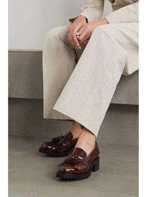 CHURCH'S colleen tasseled glossed-leather loafers